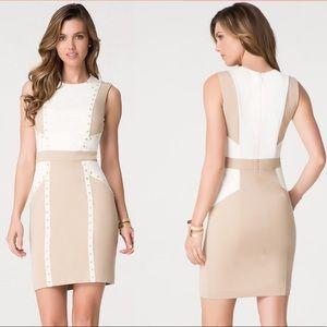 Bebe Liv grommeted Dress in natural size large